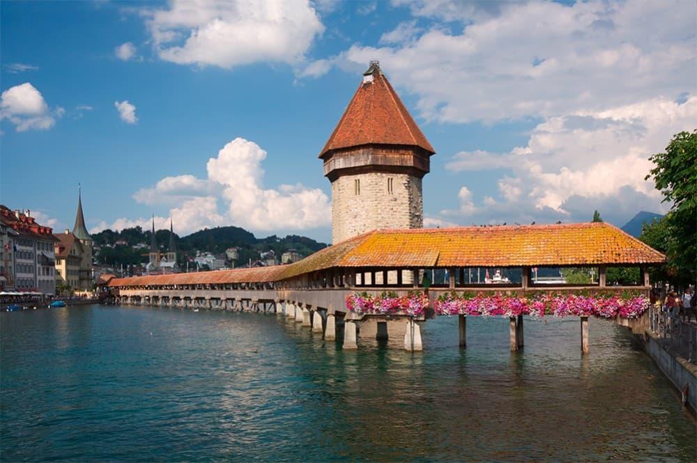 Люцерн Швейцария мост