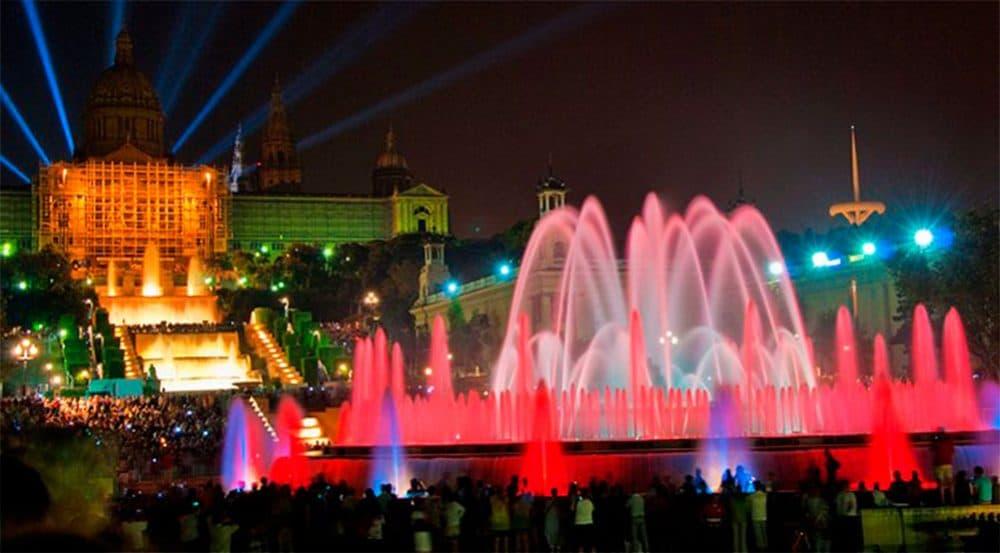 Барселона поющие фонтаны