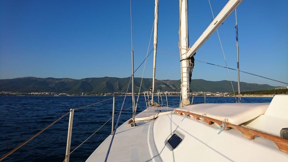 Геленджикская бухта с яхты