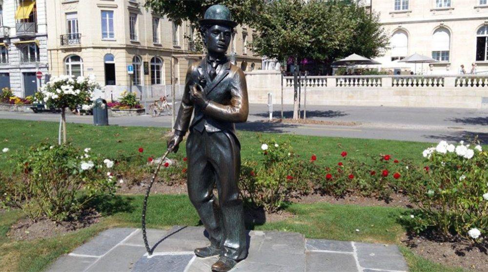 Памятник Чарли Чаплину в Швейцарии
