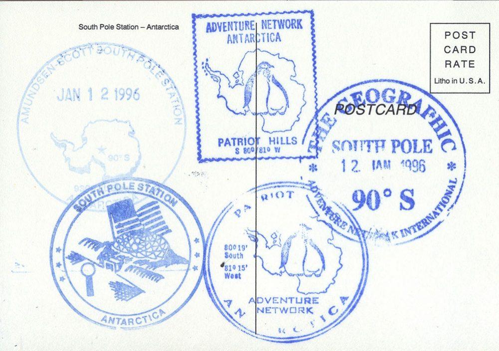 Антарктида почтовый штемпель