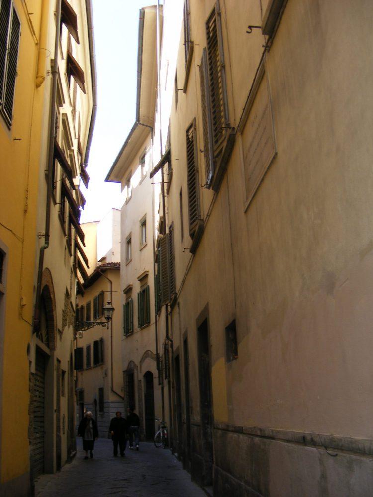 Флоренция улица Микеланджело