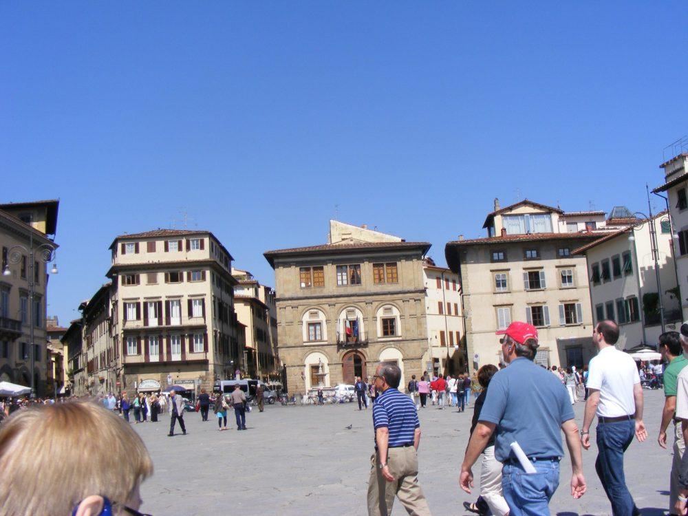 Площадь Санта-Кроче Флоренция