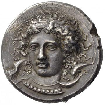 Монета Сиракузы V век