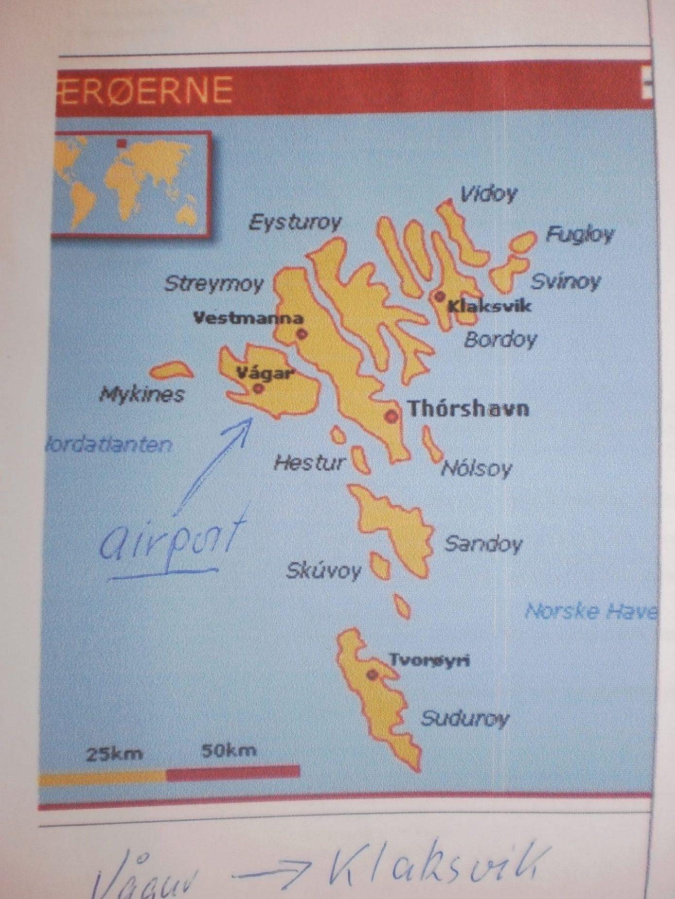Фарерские острова карта